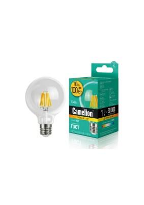 Лампа светодиод.10Вт GD Camelion/3000К/Е27/G95 Нить (Л)