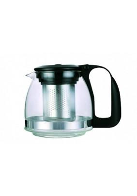 Чайник заварочный стекло 1,25л с фильтром черн TM Appetite/S95
