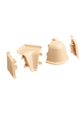 Заглушка к плинтусу  для столешниц левая AP740 1225/Слоновая кость