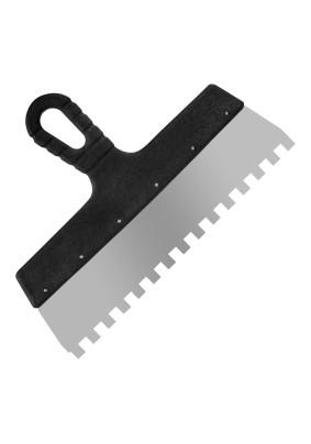 Шпатель зуб. нерж. 10х10 300 мм Lux/12-9-300 /