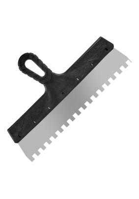 Шпатель зуб. нерж. 10х10 350 мм Lux/ 12-9-350/