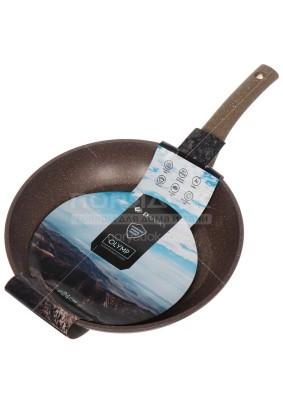 Сковорода Олимп гранит коричневый 240 см, б/к/JY-GB-24/DFR-24-BR