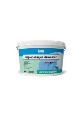 Гидроизоляция  Кнауф ФЛЕХЕНДИХТ(голубой) 5кг