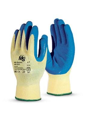 Перчатки MS Латекс, хлопок/полиэфир, латекс губчатый (9)