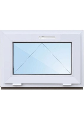 Окно ПВХ-58мм/Фрамуга/ 1- стеклопакет/ШхВ 700х500/ откидное/