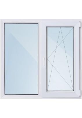 Окно ПВХ-58мм/ 1- стеклопакет/ШхВ 1200х1160/ 50% правое поворотно откидное/