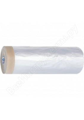 Пленка защитная креп-лента 2,4 х 25 м 8 микр HDPE / 09-0-024 /
