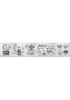 "Панель ABS ЛАК /3.0х0.6х0.0015м/Фартук ""Кофейное меню"""