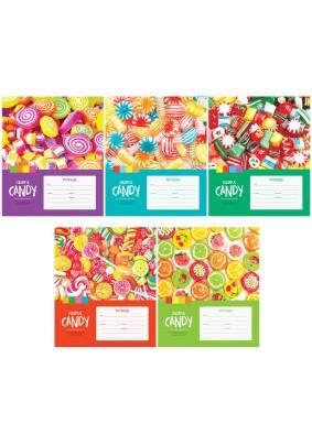 "Тетрадь ""Леденцы. Colorful candy""/клетка/12л./271170/"