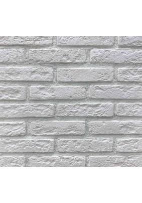 """Кирпич """"Пражский"""" белый (без покрытия) Плитка гипсовая 4,5х19х0,06 /уп=3,3м=300шт/"""