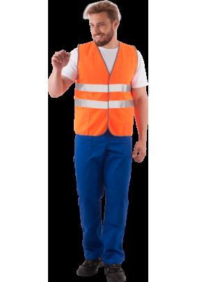 Жилет сигнальный оранжевый/жил 521