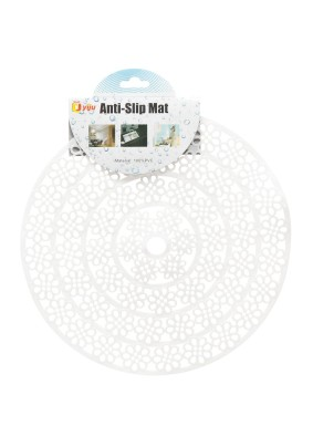 Коврик в раковину противоскольз. 28см белый цветок/Y3-796 I.K