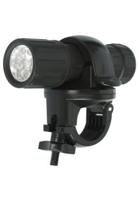 Фонарь велосипедный Ultraflash LED652 /пласт, 9LED 3хААА в компл/