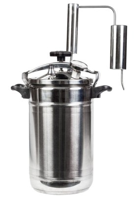 Дистиллятор Первач- Элит-Супер14Т, 14л, ДВОЙНОЕ КАПСУЛЬНОЕ ДНО, термометр, клапан избыт. давления