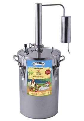 Дистиллятор Первач- элит 14Т домашний, 14л, термометр, клапан избыт. давления,