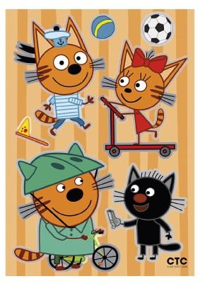 Наклейка Три кота: Коржик играет LK 1902/Декоретто S
