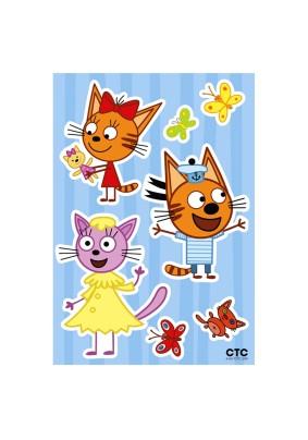 Наклейка Три кота: Забавная Карамелька и друзья LK 1903/Декоретто S
