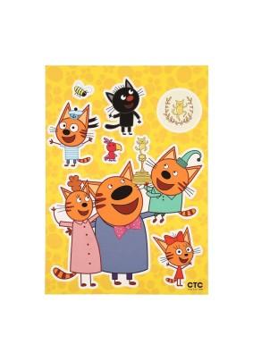 Наклейка Три кота: Радостные коты LK 4902/Декоретто L