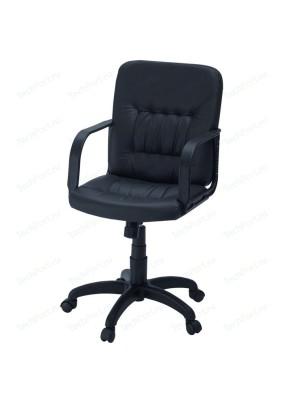 """Кресло""""Чери""""А/черный/кожа искусственная/до 100кг"""
