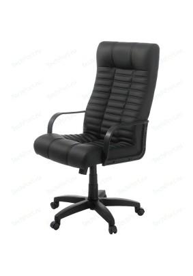 Кресло Атлант/черный/кожа искусственная/до 120кг