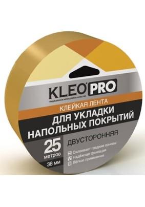 Лента клейкая двуст/для напольных покрытий/тканевая основа 38*25/KLEO