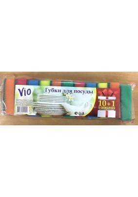 Губка для посуды Vio 10шт+1