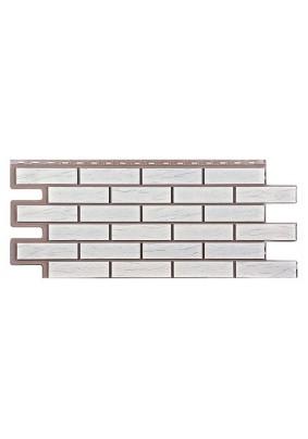 Фасадная панель Т-Сайдинг/ Саман/ Белый/ 1090х455мм