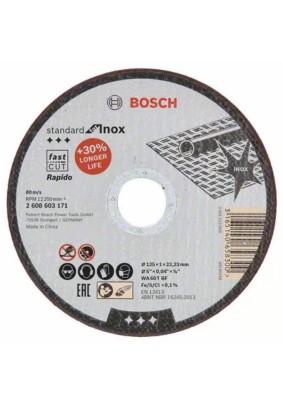 Круг отр.125х1.0х22.23 /Bosch/по нерж., прямой
