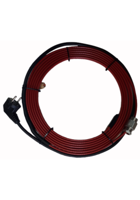 Нагревательный кабель готовый комплект в  трубу с питьевой водой  4м