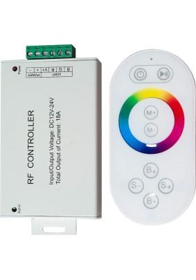 Контроллер LD56 216Вт/12В(432Вт/24В) для ленты RGB c сенсор. пультом/белый/Feron