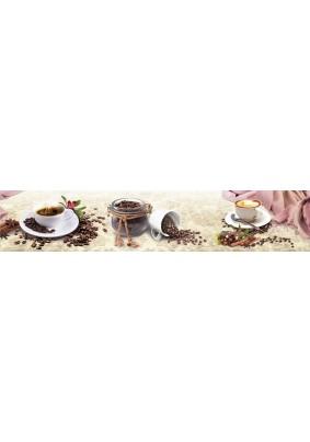 "Панель ABS ЛАК /3.0х0.6х0.0015м/ Фартук ""Кофе с корицей"""