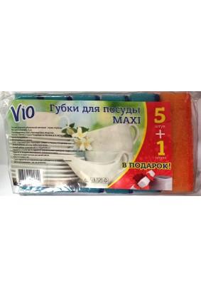Губка для посуды Vio 5шт+1