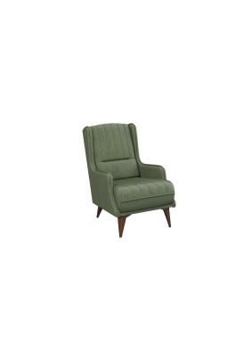 Кресло для отдыха БОЛЕРО Арт.ТД 163 НиК/Легион иск. замша, грин (хвойный зеленый)/680х960х980