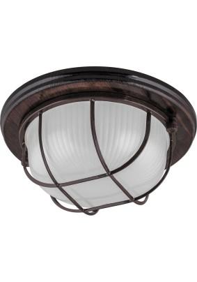 Светильник для бани/сауны орех круг с решет. IP54 до +120 Feron