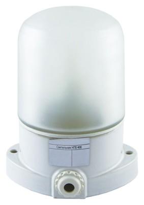 Светильник НПБ400 для бани/сауны прямой бел IP65 до +125