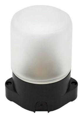 Светильник НПБ400 для бани/сауны прямой черн. IP65 до +125