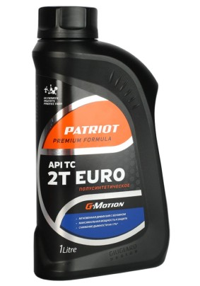 Масло для 2-х тактных двигателей 1 л., PATRIOT G-Motion EURO