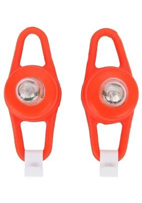 Фонарь вело RED-1 (2шт.) /пластик 1LED,2 режима задний 2xСR2032