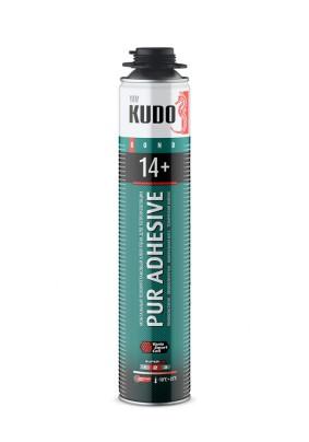 Клей-пена монтажная KUDO PROFF 14+ /всесезонная/для теплоизоляционных плит и декора/1000 мл