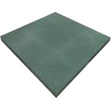 Плитка резиновая/ 500х500х30мм/ зеленый/ пуансон/