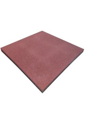 Плитка резиновая/ 500х500х30мм/ терракотовый/ пуансон/