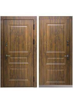 Дверь мет. Термо ЗК/винорит Темный дуб/винорит Темный дуб/2050х960/правая