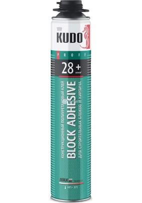 Клей-пена Цемент KUDO PROFF 28+ для строит.блоков и кирпича/1000 мл