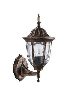 Светильник садово-парковый PL6301 11897 60W 230V E27 черное золото Feron