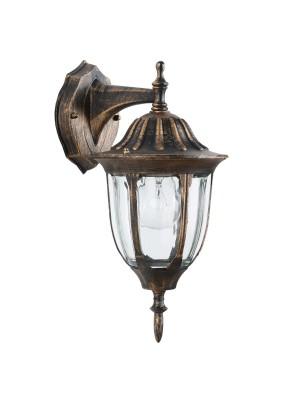Светильник садово-парковый PL6302 11898 60W 230V E27 IP44 черное золото Feron