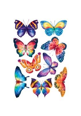Наклейка Акварельные бабочки AL 1006/Декоретто S
