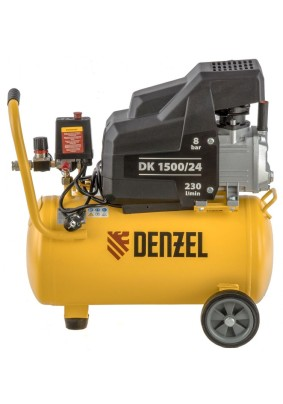 Компрессор Denzel DК-1500/24 (230л/мин, объем 24л.1.5кВт 8бар)