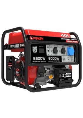 Генератор бенз. A-IPower А6500EA 6.0 кВт/40л/220В электростартер