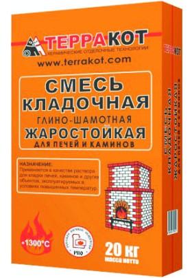 Смесь кладочная глино-шамотная Терракот/ 20кг