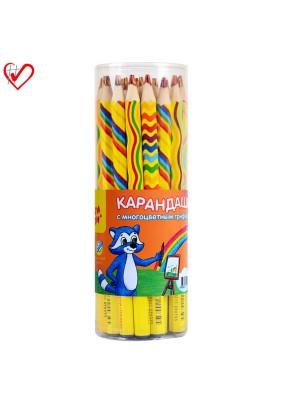 Карандаш с многоцветным грифелем Мульти-Пульти Енот и радуга 240227